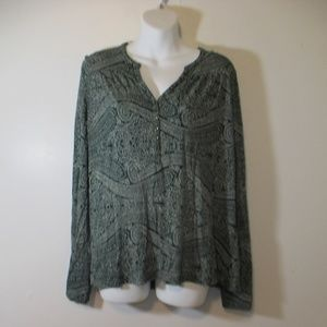 Vintage Lucky Brand blouse long sleeve size L